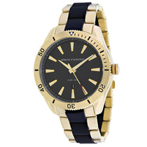 Men's Gold-Black Classic Stainless Steel Analogue Armani Exchange Watch AX1825