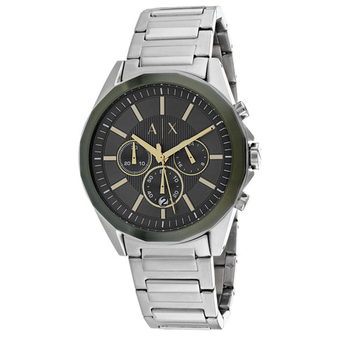 Men's Silver Classic Stainless Steel Chronograph Armani Exchange Watch AX2616
