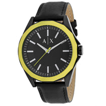 Men's Black Dress Leather Analogue Armani Exchange Watch AX2623