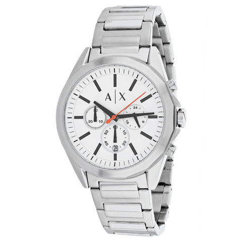 Men's Silver Classic Stainless Steel Chronograph Armani Exchange Watch AX2624