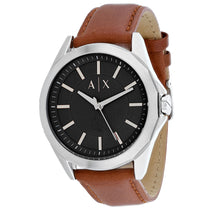 Men's Brown Classic Leather Analogue Armani Exchange Watch AX2635