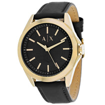 Men's Black Classic Leather Analogue Armani Exchange Watch AX2636