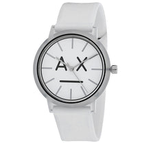 Ladies White Classic Rubber Analogue Armani Exchange Watch AX5557