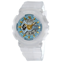 Ladies White Baby-G Resin Analogue-Digital Casio Watch BA110SC-7A