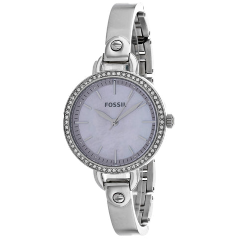Ladies Silver Classic Stainless Steel Analogue Fossil Watch BQ3222