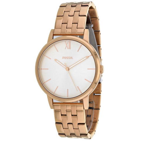 Ladies Rose Gold Cambry Stainless Steel Analogue Fossil Watch BQ3513