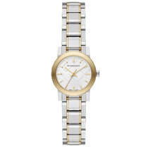 Ladies Silver Dial Two Tone Stainless Steel Burberry Watch BU9217