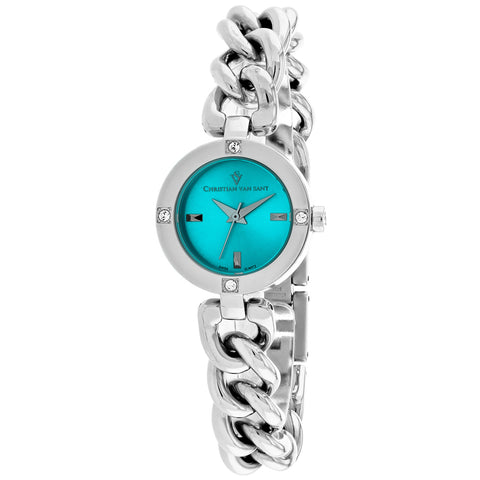 Ladies Silver Sultry Stainless Steel Analogue Christian Van Sant Watch CV0212