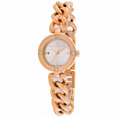 Ladies Rose Gold Sultry Stainless Steel Analogue Christian Van Sant Watch CV0213