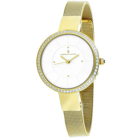 Ladies Gold Reign Stainless Steel Analogue Christian Van Sant Watch CV0222