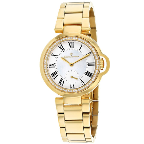 Ladies Gold Cybele Stainless Steel Analogue Christian Van Sant Watch CV0231
