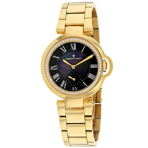 Ladies Gold Cybele Stainless Steel Analogue Christian Van Sant Watch CV0235