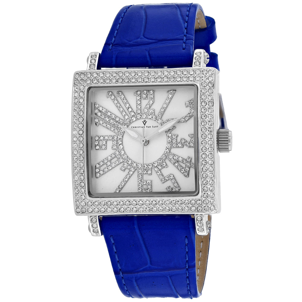 Ladies Blue Lumina Leather Analogue Christian Van Sant Watch CV0241