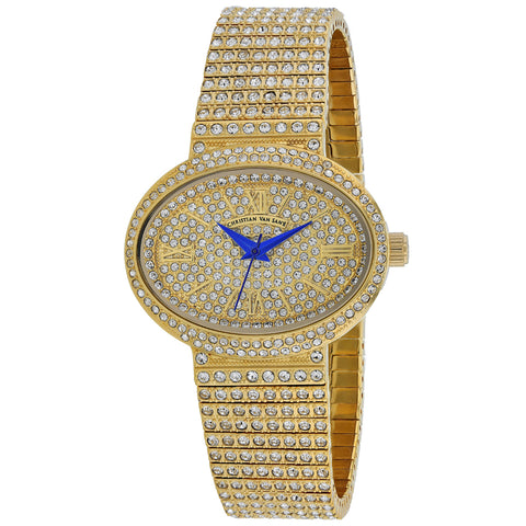 Ladies Gold Sparkler Stainless Steel Analogue Christian Van Sant Watch CV0251