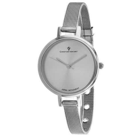 Ladies Silver Grace Stainless Steel Analogue Christian Van Sant Watch CV0280