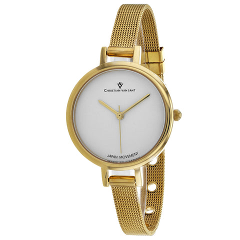 Ladies Gold Grace Stainless Steel Analogue Christian Van Sant Watch CV0283