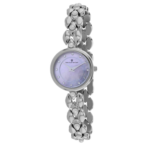 Ladies Silver Perla Stainless Steel Analogue Christian Van Sant Watch CV0612