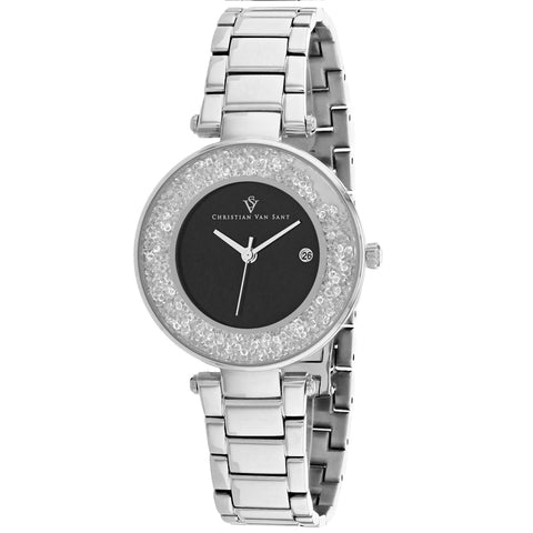 Ladies Silver Dazzle Stainless Steel Analogue Christian Van Sant Watch CV1211