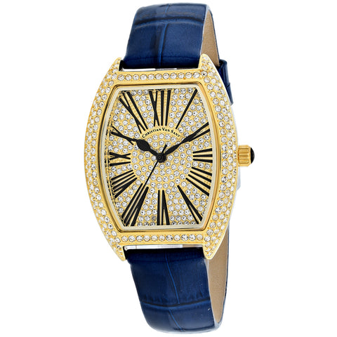 Ladies Blue Twinkle Stella Leather Analogue Christian Van Sant Watch CV4842-BL