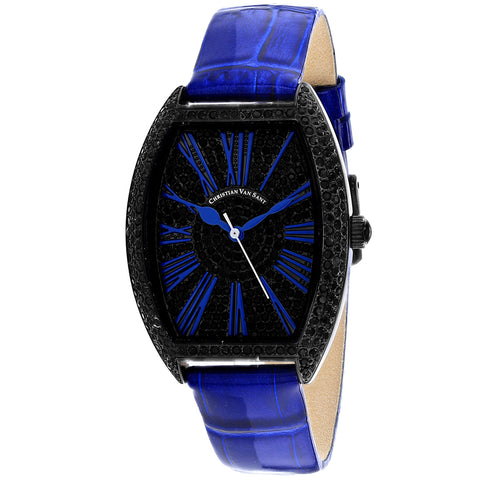 Ladies Blue Chic Leather Analogue Christian Van Sant Watch CV4845