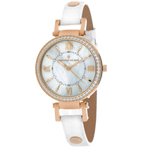Ladies White Petite Leather Analogue Christian Van Sant Watch CV8131