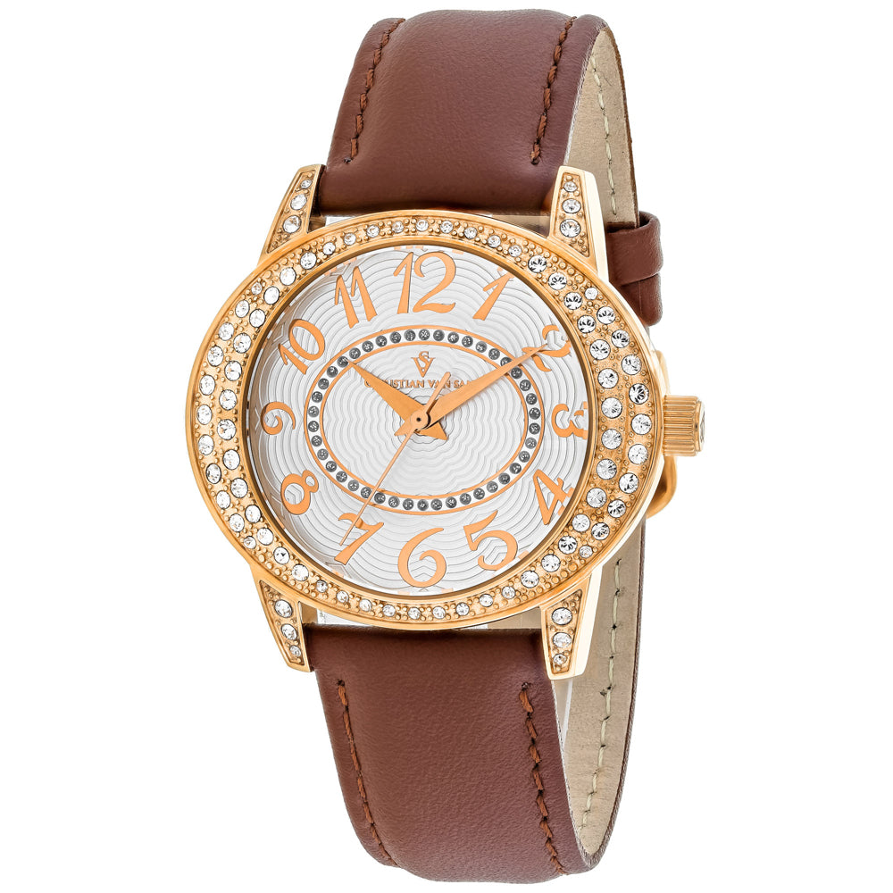 Ladies Brown Sevilla Leather Analogue Christian Van Sant Watch CV8413
