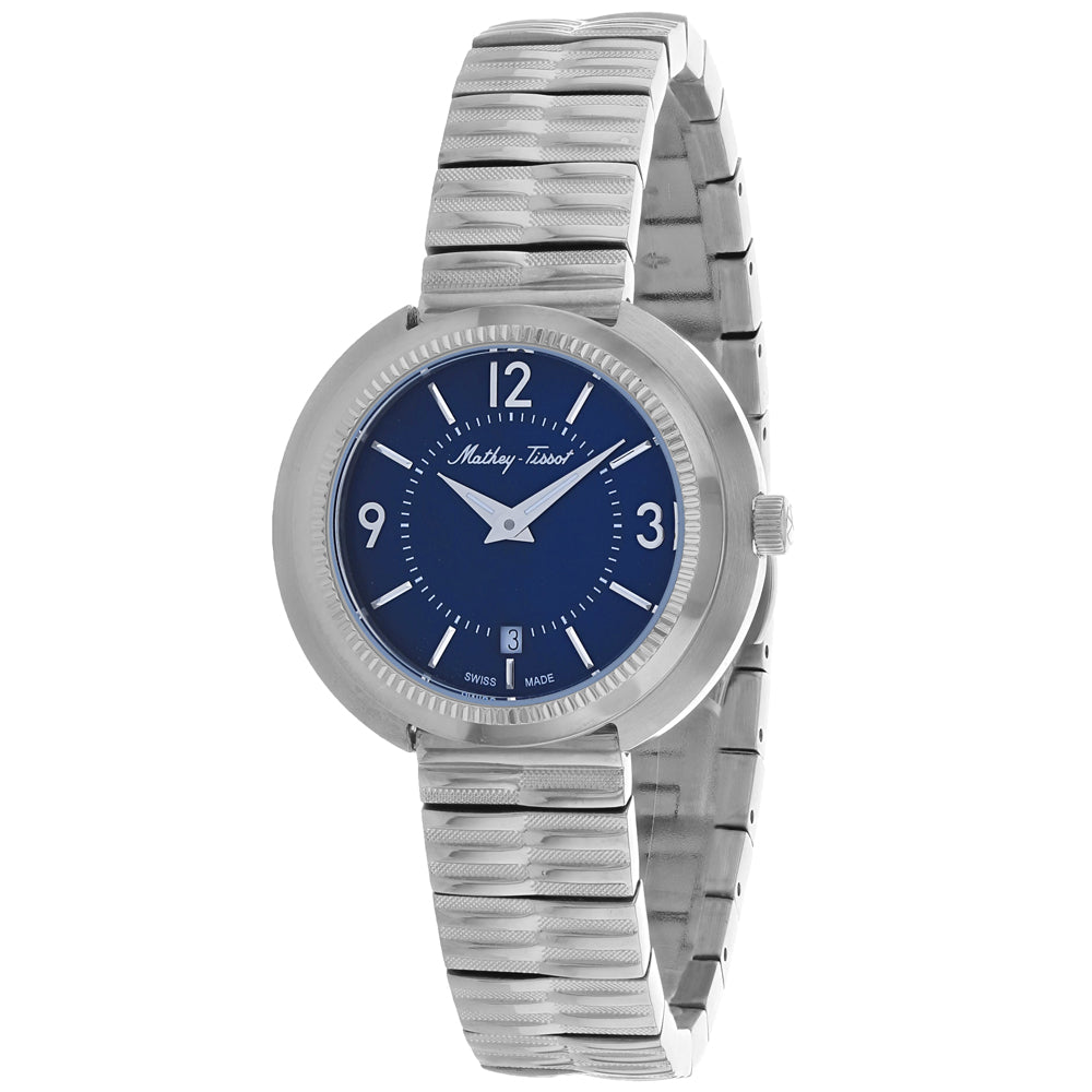 Ladies Silver Lutenzia Stainless Steel Analogue Mathey Tissot Watch D1084ABU