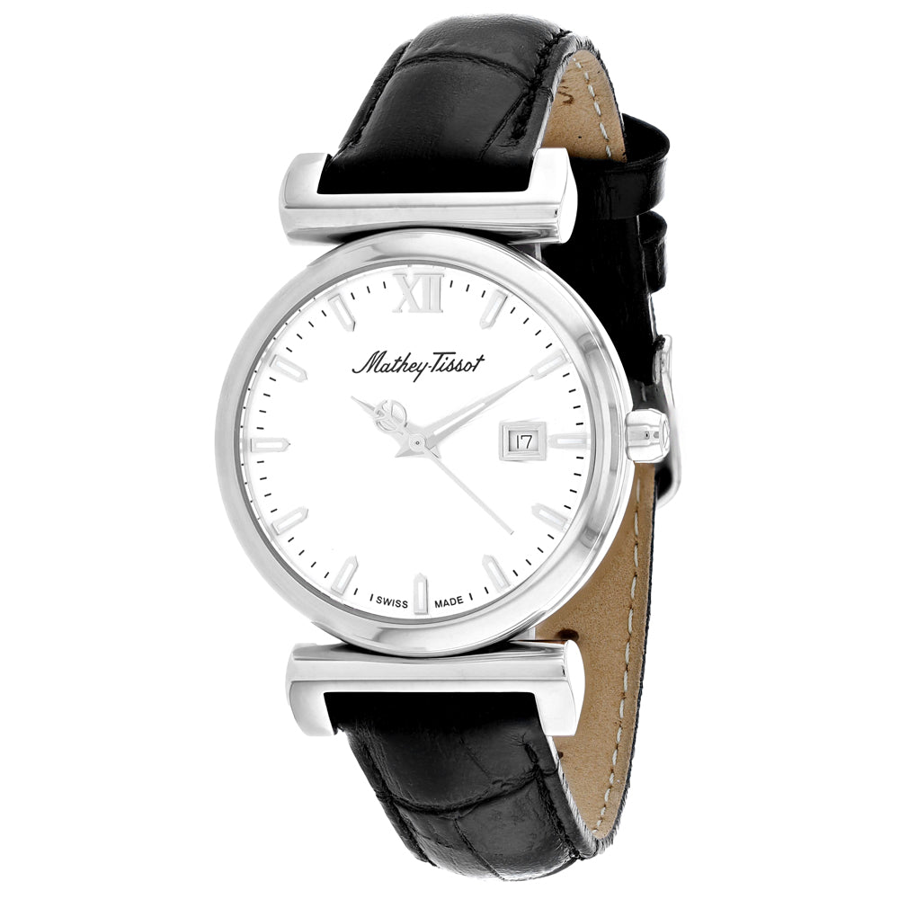 Ladies Black Elegance Leather Analogue Mathey Tissot Watch D410ALI