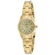 Ladies Gold Classic Stainless Steel Analogue Mathey Tissot Watch D452N