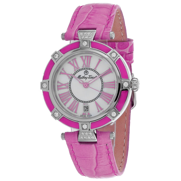 Ladies Pink Classic Leather Analogue Mathey Tissot Watch D6001ALR