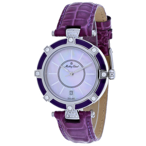 Ladies Purple Classic Leather Analogue Mathey Tissot Watch D6001ALV