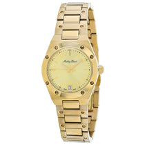 Ladies Gold Eliser Stainless Steel Analogue Mathey Tissot Watch D680PDI