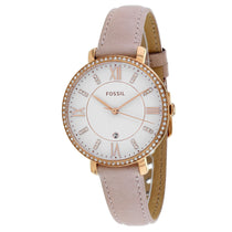 Ladies Pink Jaqueline Leather Analogue Fossil Watch ES4303