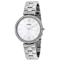 Ladies Silver Madeline Stainless Steel Analogue Fossil Watch ES4539