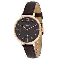 Ladies Black Kayla Leather Analogue Fossil Watch ES4665