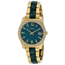 Ladies Scarlette Stainless Steel Analogue Fossil Watch ES4676