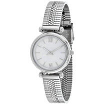 Ladies Silver Carlie Stainless Steel Analogue Fossil Watch ES4695
