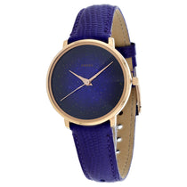 Ladies Purple Prismatic Galaxy 3 Leather Analogue Fossil Watch ES4727