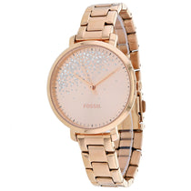 Ladies Rose Gold Jacqueline Stainless Steel Analogue Fossil Watch ES4775