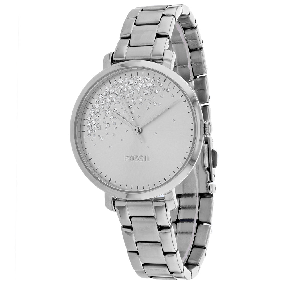 Ladies Silver Jacqueline Stainless Steel Analogue Fossil Watch ES4776