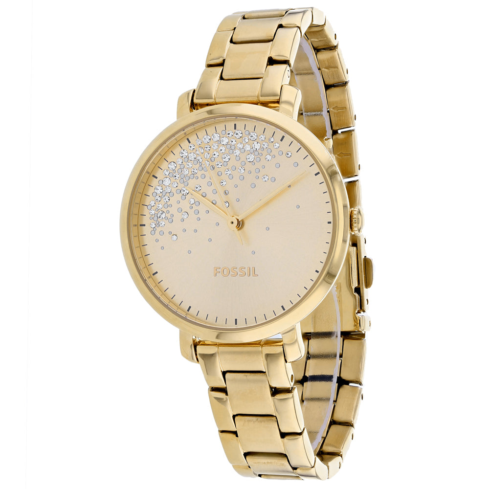 Ladies Gold Jacqueline Stainless Steel Analogue Fossil Watch ES4777