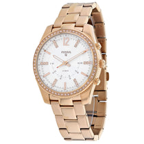 Ladies Rose Gold Scarlette Stainless Steel Analogue Fossil Watch FTW5016