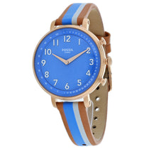 Ladies Multi-Color Cameron Smartwatch Leather Analogue Fossil Watch FTW5050