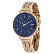 Ladies Rose Gold Cameron Smartwatch Stainless Steel Analogue Fossil Watch FTW5061