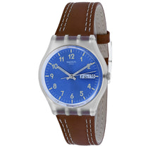 Men's Brown Gent Rubber Analogue Swatch Watch GE709