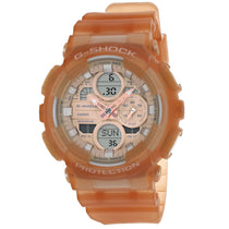 Ladies Brown Nude Plastic Strap Chronograph Casio Watch GMAS140NC-5A1