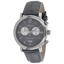 Men's Grey Vintage Leather Chronograph Mathey Tissot Watch H41CHTL
