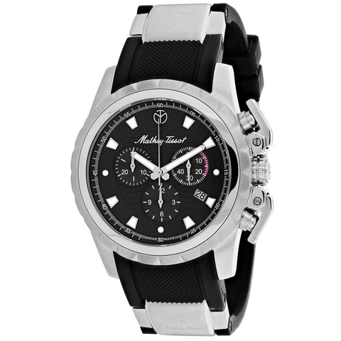Men's Black Classic Rubber Chronograph Mathey Tissot Watch H466CHAN