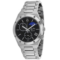 Mens's Silver Eliser Moon Stainless Steel Analogue Mathey Tissot Watch H680CHAN