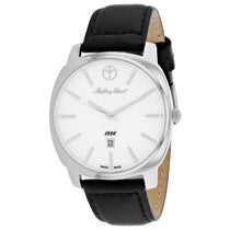 Mens's Silver Smart Leather Analogue Mathey Tissot Watch H6940AI
